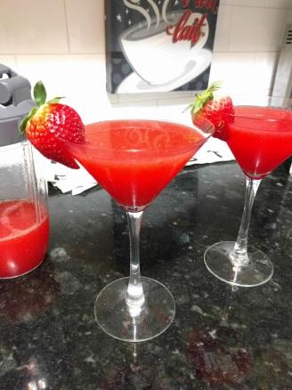 Strawberry Margarita - Homemade on the nutribullet.