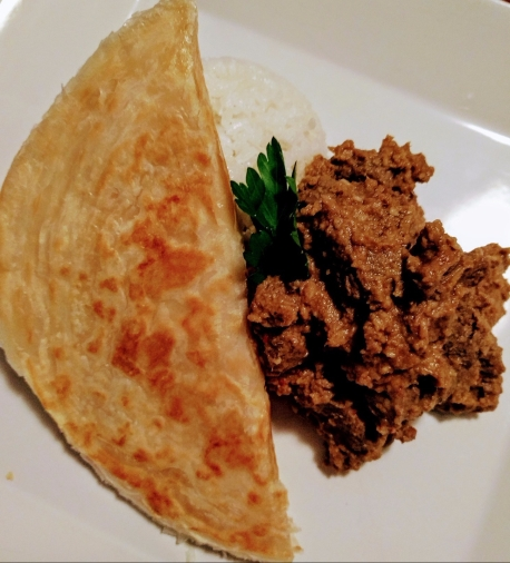 Beef Rendang with Coconut Rice & Roti
